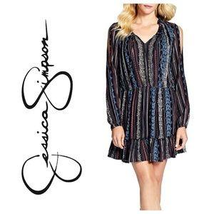 Jessica Simpson Meadow Boho Dress + 2 necklaces